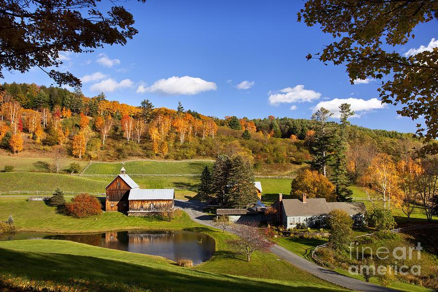 New England Fall Phone Wallpaper Autumn Farm In Vermont Photograph By Brian Jannsen