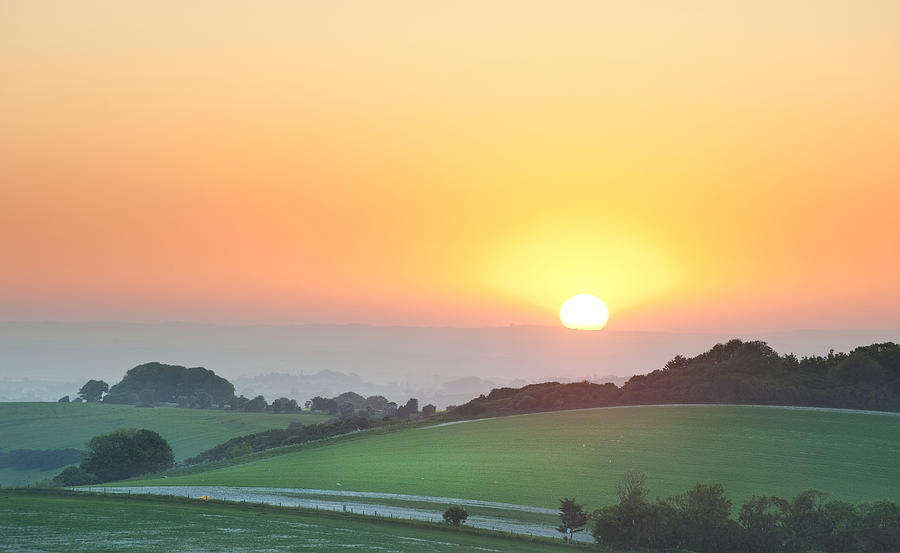 Chargers Iphone Wallpaper Summer Sunrise Over English Countryside Rural Landscape