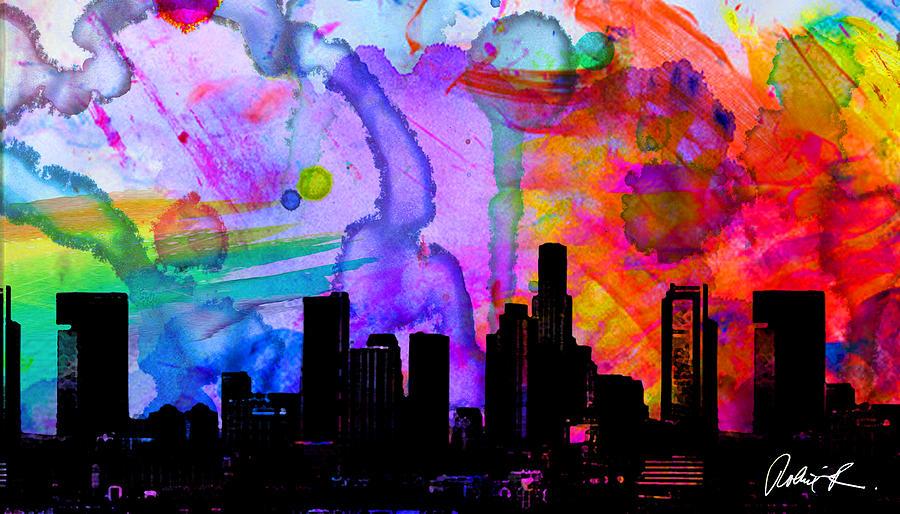 Inside Iphone X Wallpaper 60x34 Panoramic Watercolor Skyline Www Splashyartist Com