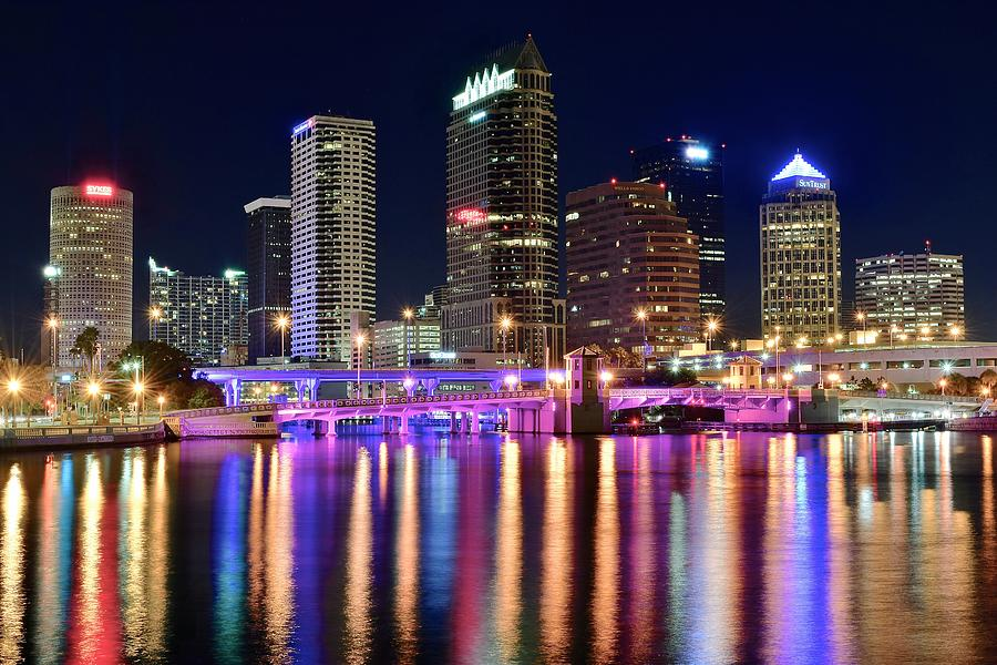 Tampa Bay Lightning Iphone Wallpaper A Tampa Bay Night Photograph By Frozen In Time Fine Art