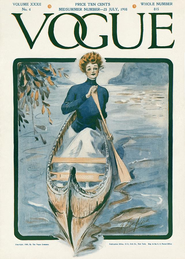 Baby Bags Vogue A Vintage Vogue Magazine Cover Of A Woman Photograph By G