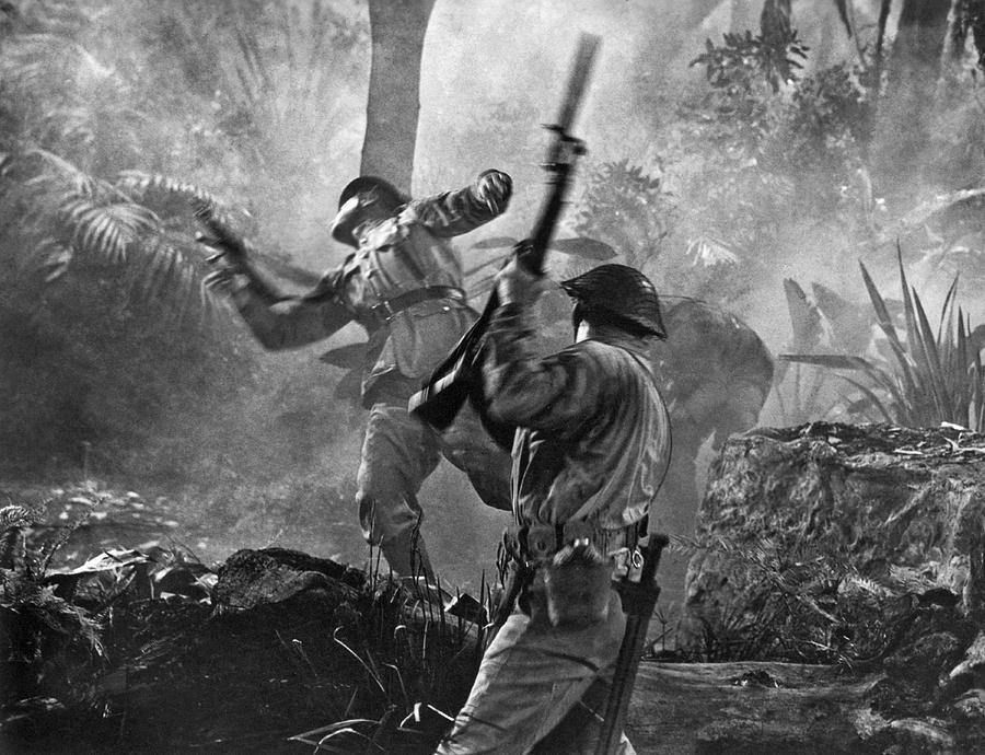 A World War Ii Hand To Hand Combat Battle Scene