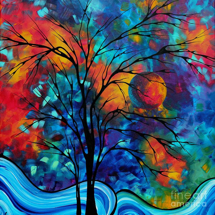 Klimt Wallpaper Iphone Abstract Art Landscape Tree Bold Colorful Painting A