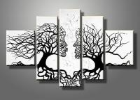 Abstract Kiss Tree Canvas Gallery Wrap Wall Art Set ...