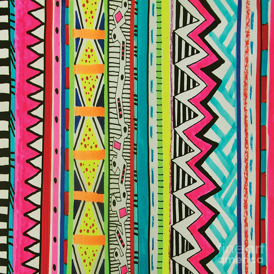 Cute Tribal Patterns Wallpaper Adebowale Digital Art By Respect The Queen