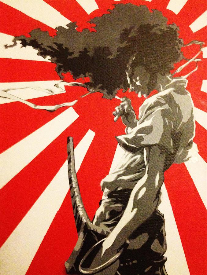 Japanese Samurai Girl Wallpaper Afro Samurai Painting By Chris Lindmark
