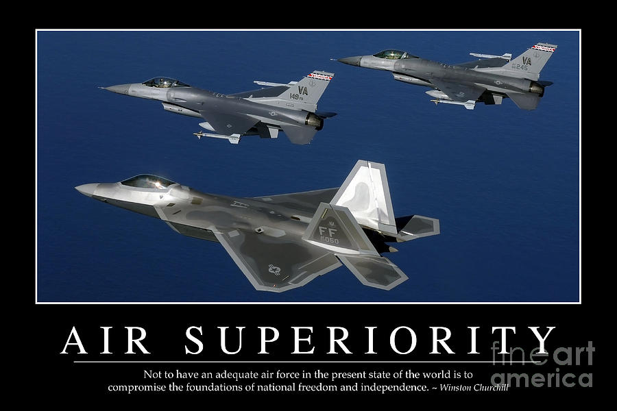 Inspiring Quotes Iphone 5 Wallpaper Air Superiority Inspirational Quote Photograph By