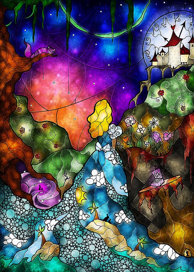 Animal Print Desktop Wallpaper Alice S Wonderland Digital Art By Mandie Manzano