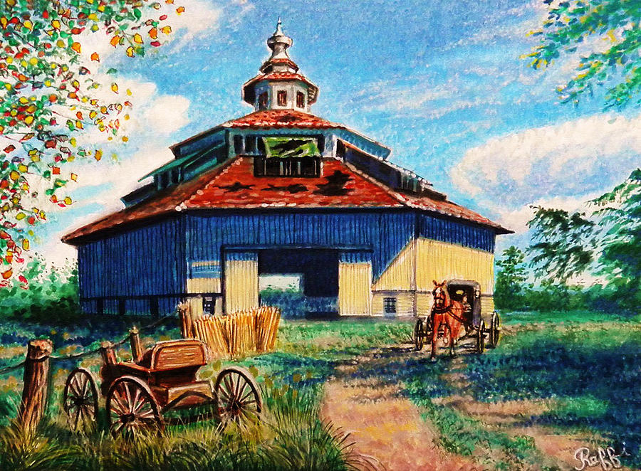 Fall Scenery Iphone Wallpaper Amish Country Painting By Raffi Jacobian
