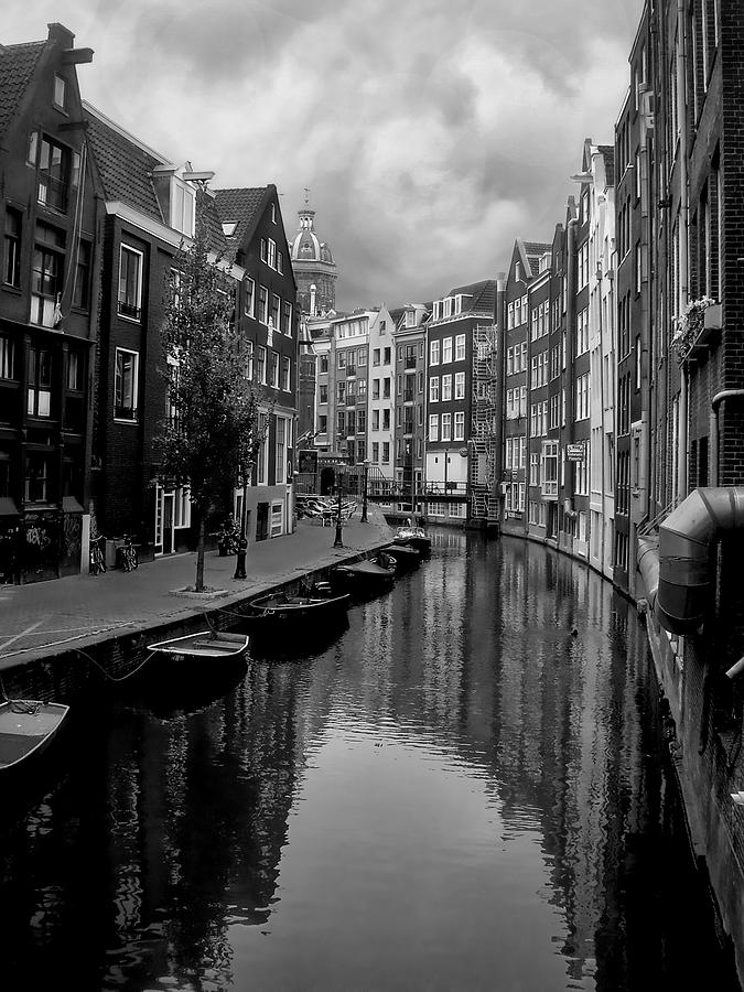 Manchester City Iphone Wallpaper Amsterdam Canal Photograph By Heather Applegate