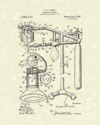 Anesthetic Machine 1919 Patent Art Drawing by Prior Art Design