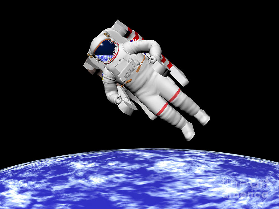 Falling Astronaut Iphone Wallpaper Astronaut Floating In Outer Space Digital Art By Elena