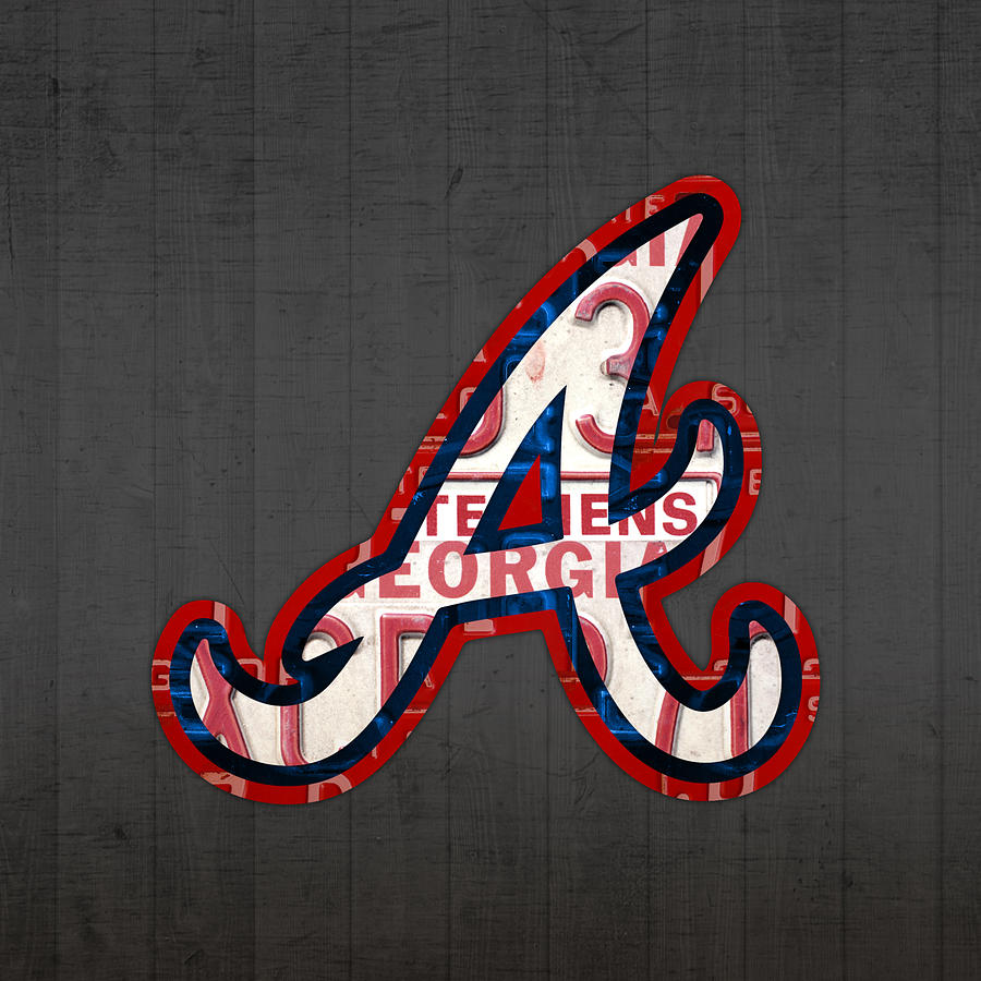 Atlanta Hawks Wallpaper Hd Atlanta Braves Baseball Team Vintage Logo Recycled Georgia