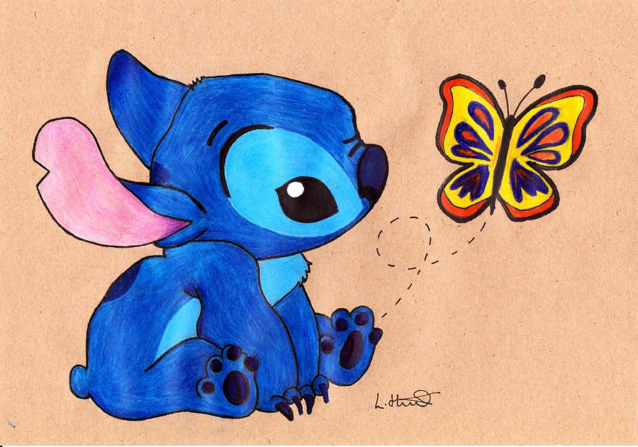 Cute Baby Angel Wallpaper Baby Stitch Drawing By Loren Hill