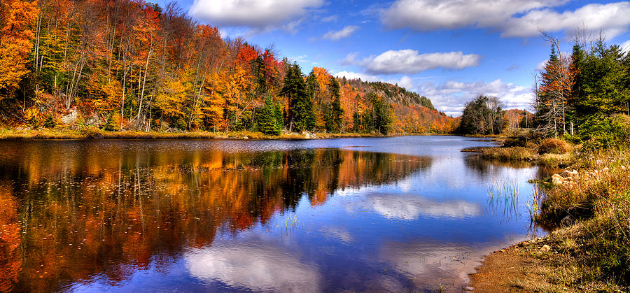 Fall Mountain Wallpaper Bald Mountain Pond In The Adirondack Mountains Photograph