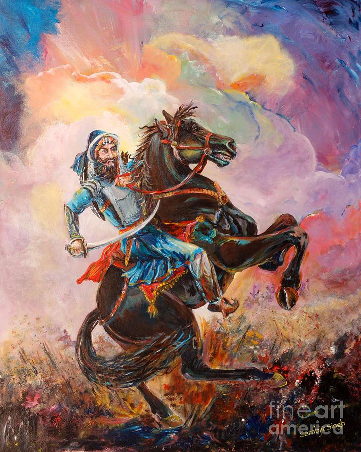 Sikh Wallpapers Hd For Iphone 5 Banda Singh Bahadur Painting By Sarabjit Singh
