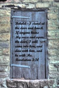 Behold. I Stand At The Door And Knock - Revelation 3.20 ...