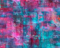Berry Pink Purple And Blue Abstract Painting by Lee Ann Asch