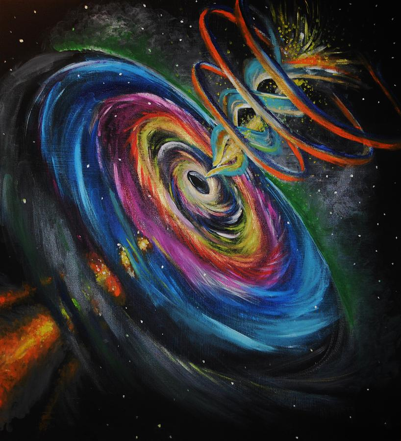 Black Hole Wallpaper Android Black Hole Painting By Kali Koltz