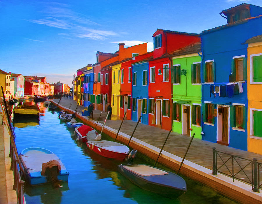 Fall Wallpaper For Android Phone Burano Island In The Venetian Lagoon Painting By Michael