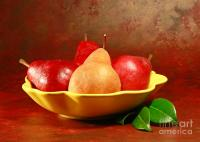California Beurre Bosc Pears In Fruit Bowl Photograph by ...