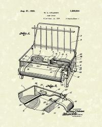 Camp Stove 1926 Patent Art Drawing by Prior Art Design
