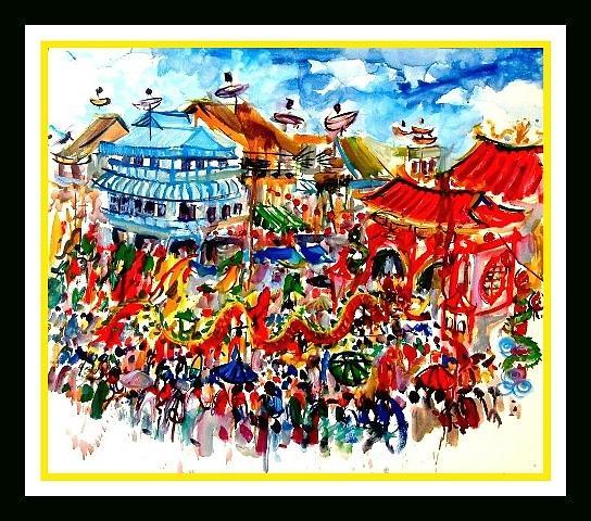 Cap Go Meh At Singkawang City Painting by Zul Ms