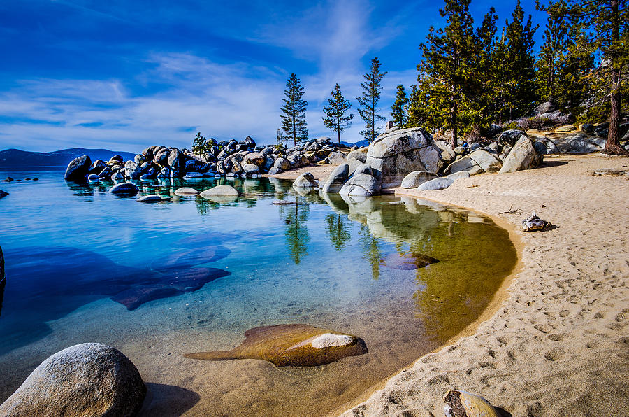 Fall Wallpaper Iphone 5 Chimney Beach Lake Tahoe Shoreline Photograph By Scott Mcguire
