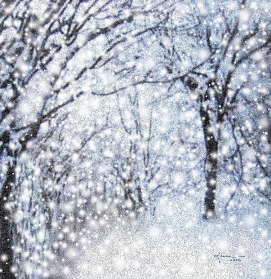 Falling Snow Wallpaper Iphone 5 Christmas Snow Digital Art By Kume Bryant