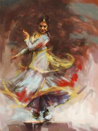 Classical Dance Art 8 Painting by Maryam Mughal