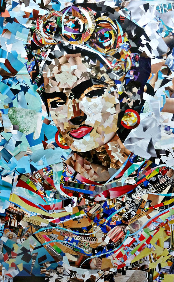 Online Fotocollage Collage Painting Frida Kahlo Painting By Irina Bast