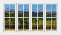 Colorado Rocky Mountains White Window Frame View ...