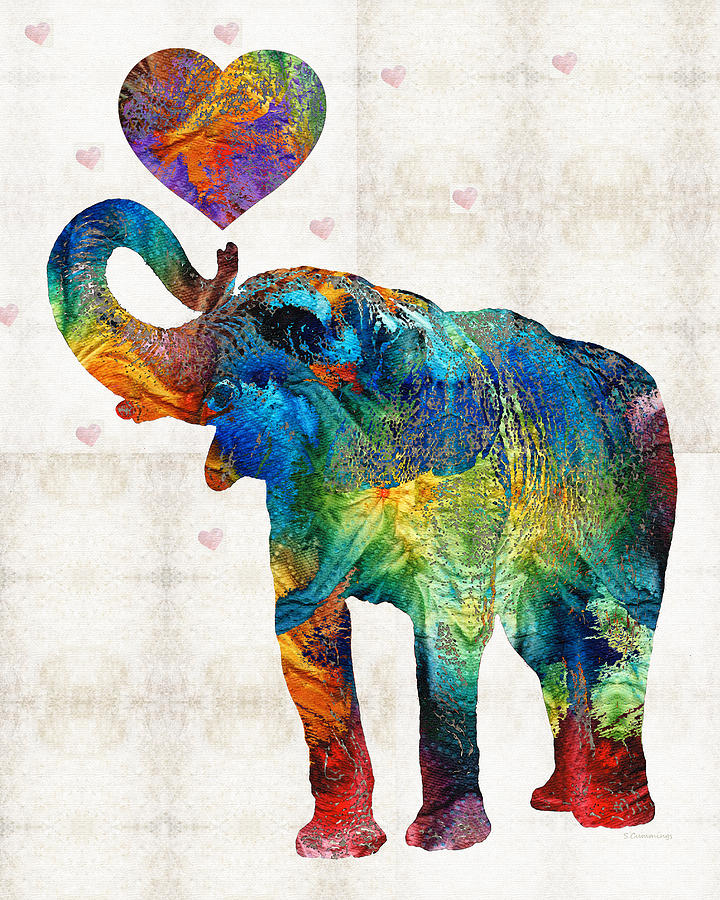 Flamingo Iphone Wallpaper Colorful Elephant Art Elovephant By Sharon Cummings