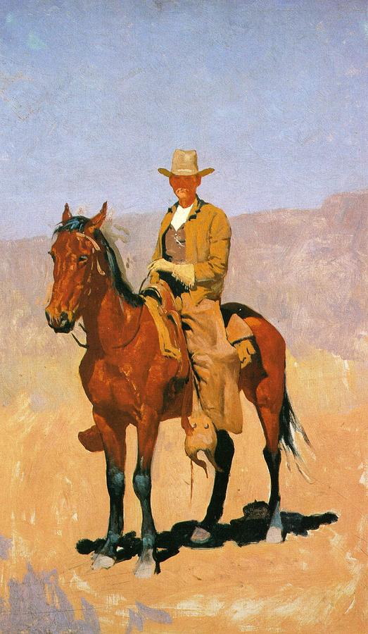 Native American Wallpaper Iphone Cowboy Mounted On A Horse Digital Art By Frederic Remington