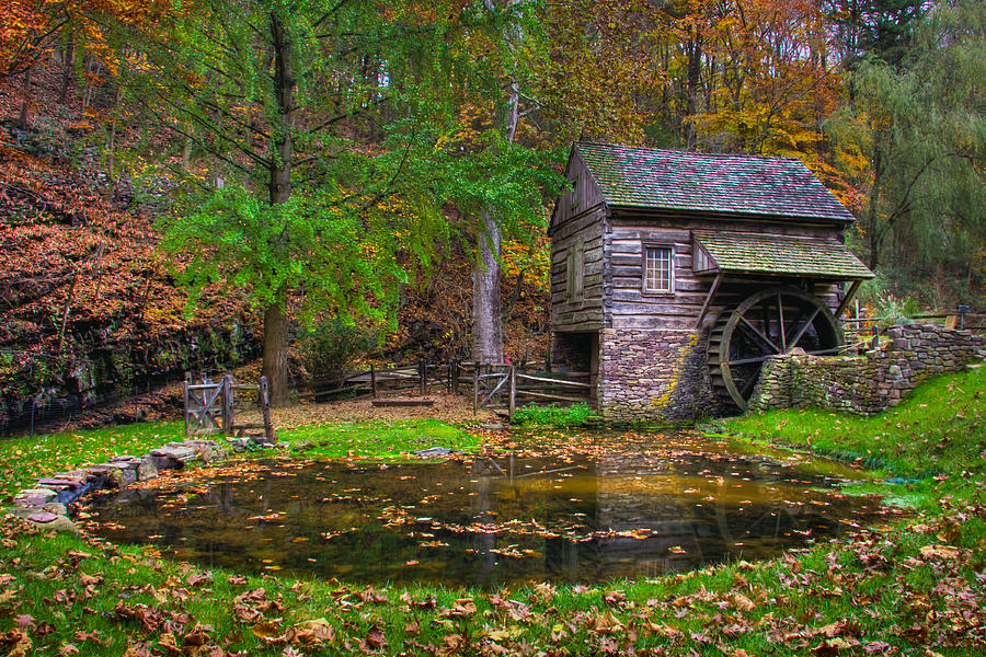 Fall Scenes For Ipad Wallpaper Cuttalossa Farm Mill And Pond In Fall Photograph By