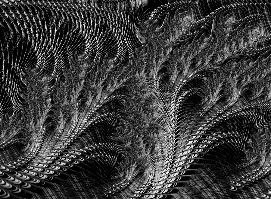 Chargers Iphone Wallpaper Dark Loops Black And White Fractal Abstract Digital Art