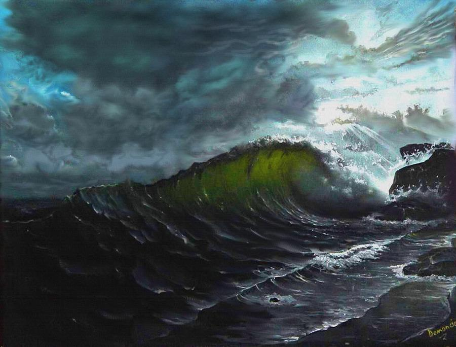 Old Iphone Wallpapers Dark Sea Painting By Demoncio