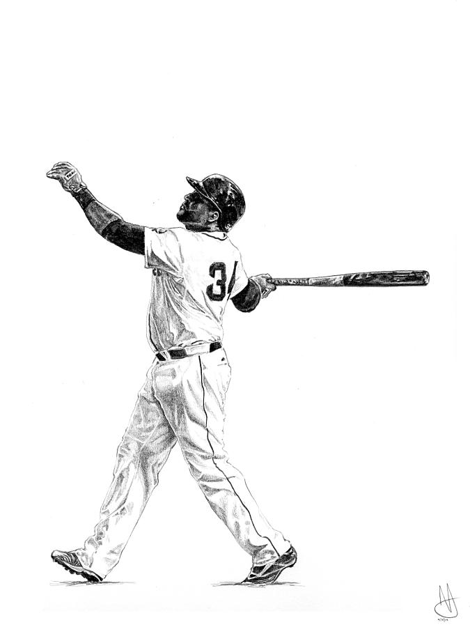 Red Sox Wallpaper Iphone X David Ortiz Drawing By Joshua Sooter