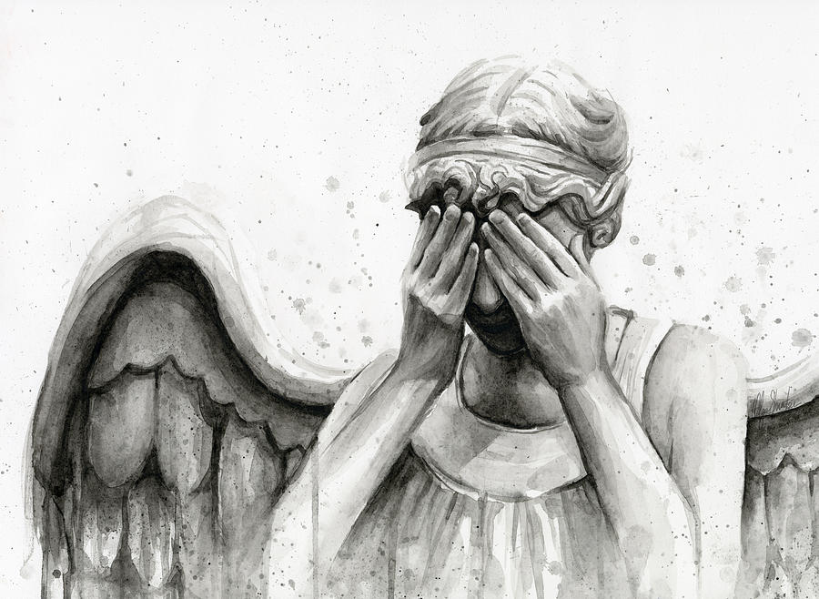 Creepy Cute Iphone Wallpaper Doctor Who Weeping Angel Don T Blink Painting By Olga