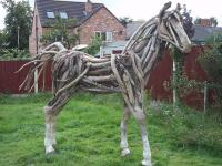 Driftwood Horse Sculpture by Angie Wright