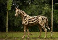 Driftwood Horse Sculpture Sculpture by Abdul Ghofur
