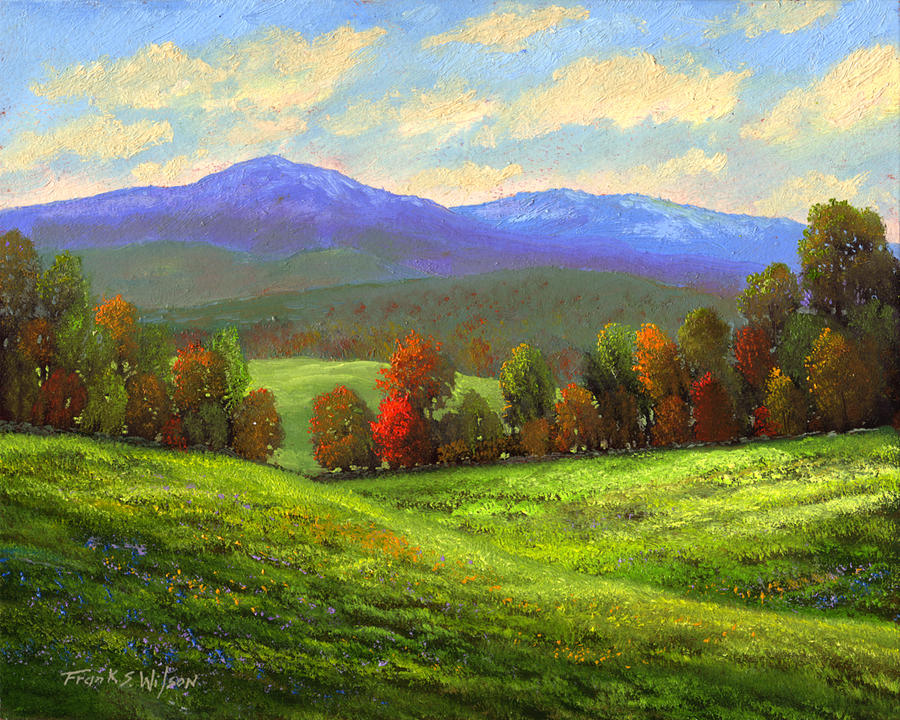 Vermont Fall Foliage Wallpaper Early September Green Mountains Painting By Frank Wilson
