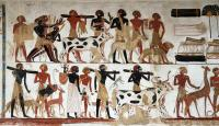 Egyptian Wall Painting Of Temple Of Beit El-wali ...