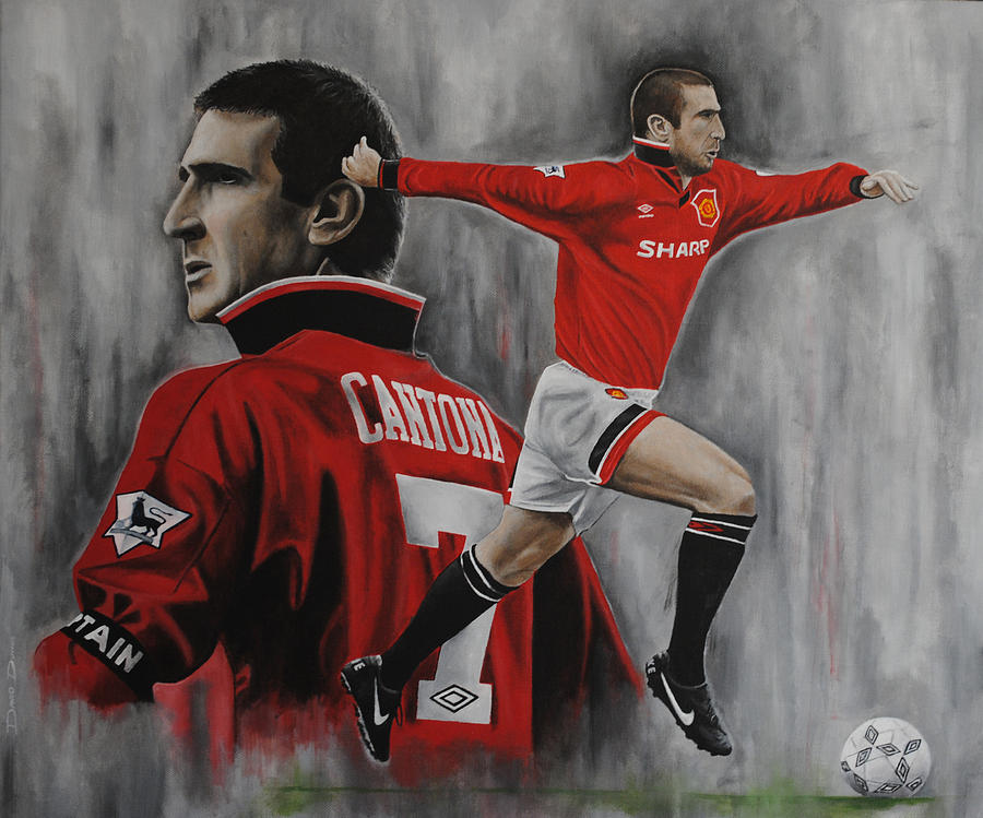 Arsenal Iphone Wallpaper Hd Eric Cantona Painting By David Dunne