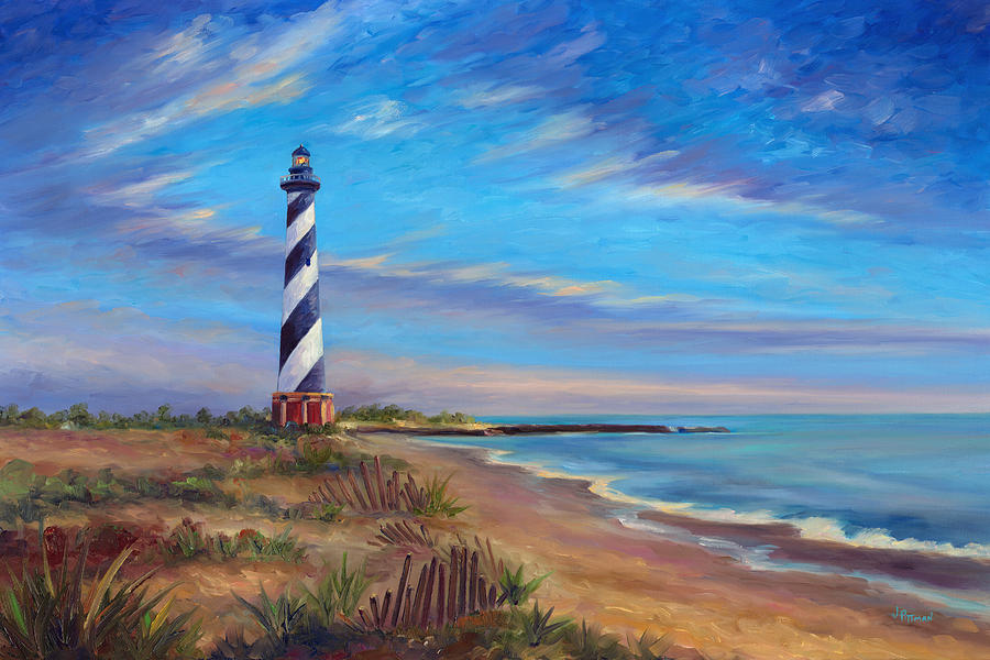 Free Animated Fall Desktop Wallpaper Evening At Cape Hatteras Painting By Jeff Pittman