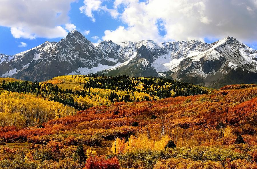 Fall Season Wallpapers For Iphone Fall Colors Sneffels Range Colorado Photograph By Steve Barge