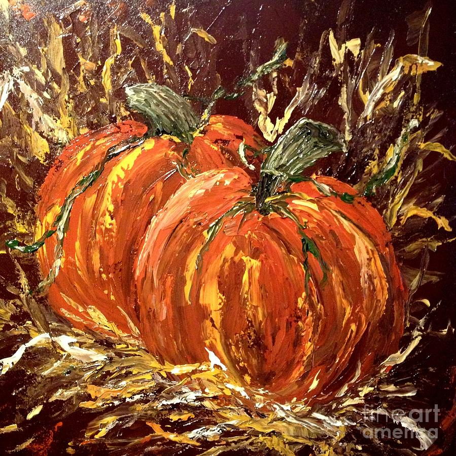 Fall Scenes Wallpaper With Pumpkins Fall Pumpkins Painting By Pam Hinds