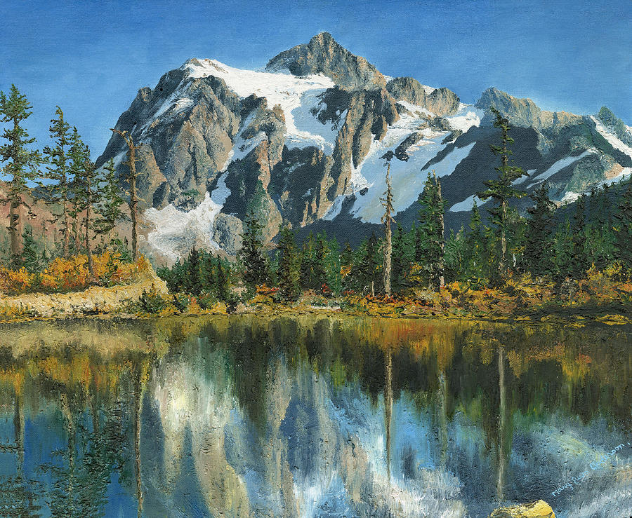 Fall Wallpaper Iphone 5 Fall Reflections Cascade Mountains Painting By Mary