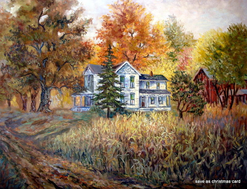 Rustic Fall Desktop Wallpaper Farm In The Fall Painting By Millie Gift Smith