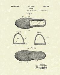 Footwear 1934 Patent Art Drawing by Prior Art Design